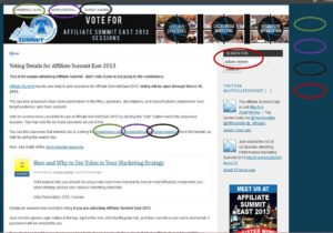 how to find sessions to vote for for Affiliate Summit.