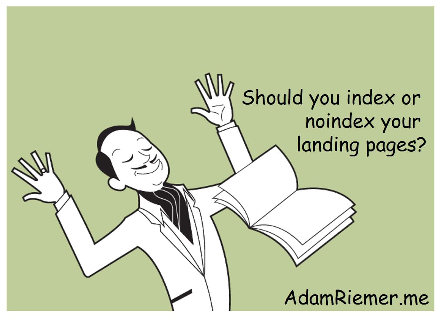 should you index or noindex landing pages